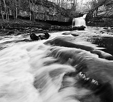 West Burton Waterfalls (B&W) by Stephen Knowles