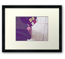 Cube and Tube Framed Print