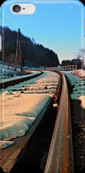 Railroads in winter wonderland   landscape photography by Patrick Jobst