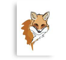 An illustration of a fox Canvas Print