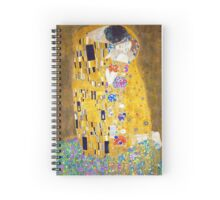 Gustav Klimt - The Kiss Spiral Notebook