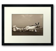 P-51 Mustang Fighter Plane - Classic War Bird Framed Print