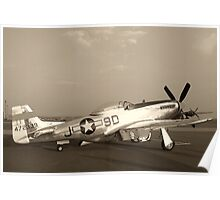 P-51 Mustang Fighter Plane - Classic War Bird Poster