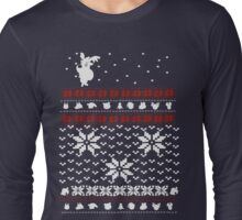 Merry Christmas and A Happy New Leaf Long Sleeve T-Shirt