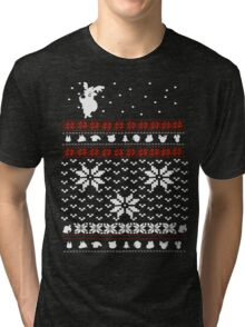 Merry Christmas and A Happy New Leaf Tri-blend T-Shirt