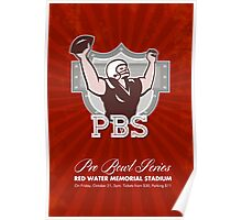 American Pro Football Bowl Retro Poster Art Poster