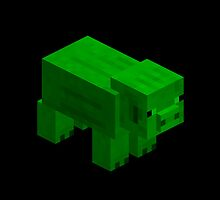 GREEN PIG by Chillee Wilson from Customize My Minifig by ChilleeW