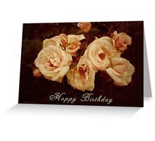 Cream Roses Greeting Card
