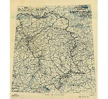 April 29 1945 World War II HQ Twelfth Army Group situation map Photographic Print