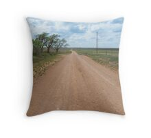 """Jericho Gap, a.k.a. """"Dirt 66"""" on Route 66, Alanreed, TX Throw Pillow"""