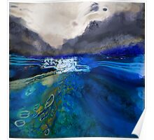 abstract landscape - the lake district  Poster