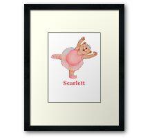 Scarlett Ballet Bear Framed Print