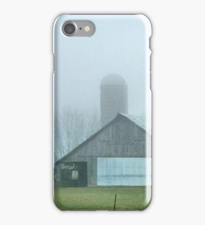 Vintage Barns in Fog iPhone Case/Skin