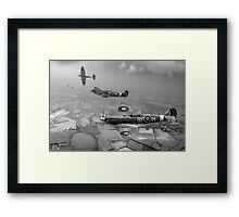 Spitfire fighter sweep Framed Print