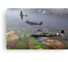 Spitfire fighter sweep Canvas Print