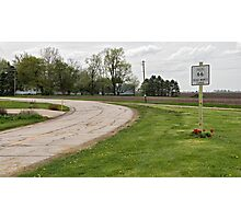 Dead Man's Curve on Route 66, Towanda, IL Photographic Print