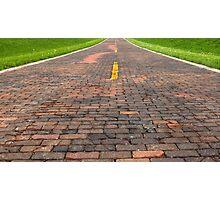 "Auburn Brick Road, a.k.a. ""Brick 66"", Auburn, IL Photographic Print"