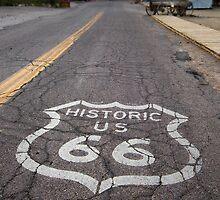 Route 66 road shield, Oatman, AZ by swtrekker