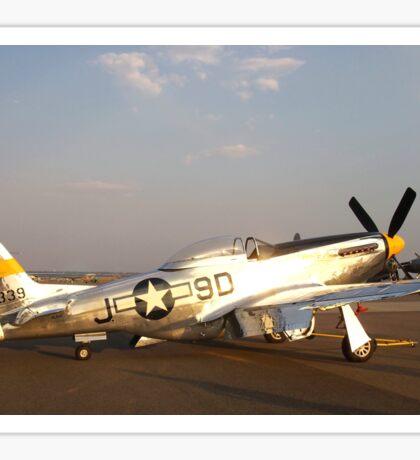 P-51 Mustang Fighter Plane Sticker