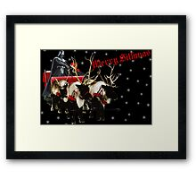 Merry Sithmas / With Snow - Remastered Framed Print