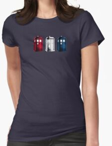 Tardis - RWB Womens Fitted T-Shirt