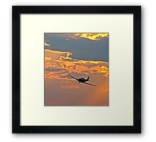 Japanese Zero Fighter Plane at Sunset Framed Print