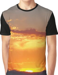 Fiery Sunset over the Rocky Mountains Graphic T-Shirt
