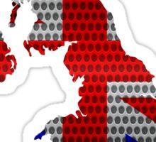 United Kingdom Flag and Map Steel Metal Hole Sticker