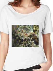 Caribbean Reef Lobster in Color Women's Relaxed Fit T-Shirt