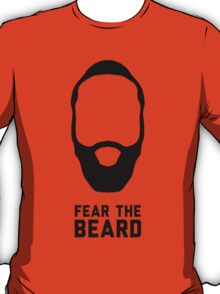 Fear the Beard shirt, James Harden tshirt, NBA Houston Rockets t-shirt, basketball apparel - Black T-Shirt