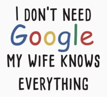 I don't need google my wife knows everything by prspark
