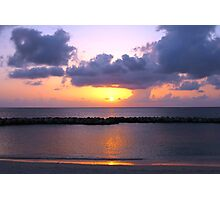 Pink and Purple Seven Mile Sunset in the Caribbean Photographic Print