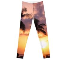 Relaxation and Vacation in a Caribbean Paradise Leggings