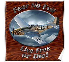 P-51 Mustang Fear No Evil Poster