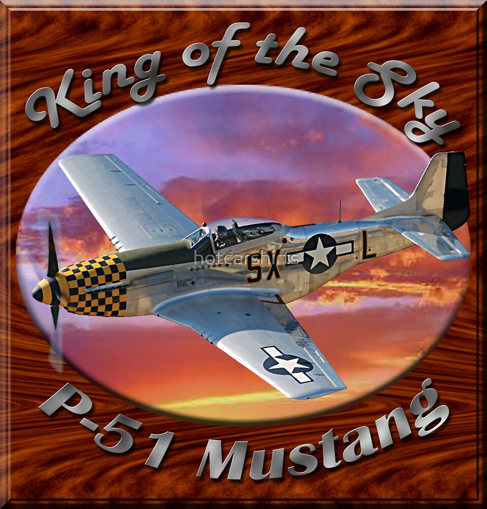 P-51 Mustang King of the Sky by hotcarshirts