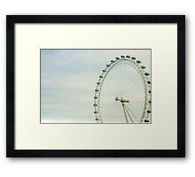 London Eye Green Sky Framed Print