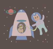 SPACEWALKER LETS CAT GO FIRST Baby Tee