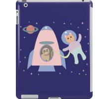 SPACEWALKER LETS CAT GO FIRST iPad Case/Skin