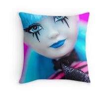 Punk Gothic Doll Throw Pillow