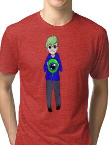 Chibi Jacksepticeye and sam Tri-blend T-Shirt