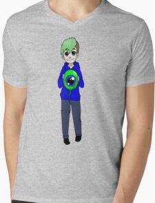 Chibi Jacksepticeye and sam Mens V-Neck T-Shirt