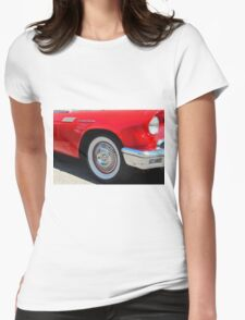 Red Ford Thunderbird - Classic Hot Rod Womens Fitted T-Shirt