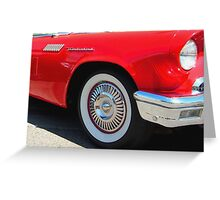 Red Ford Thunderbird - Classic Hot Rod Greeting Card