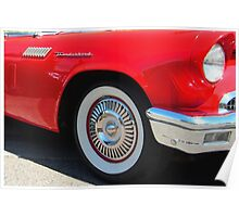 Red Ford Thunderbird - Classic Hot Rod Poster