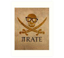 Pirate Humor Math Number Pi Nerd Poster Art Print