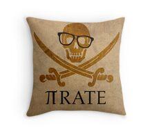 Pirate Humor Math Number Pi Nerd Poster Throw Pillow