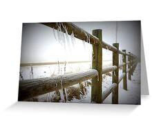Freezing Fenceline Greeting Card