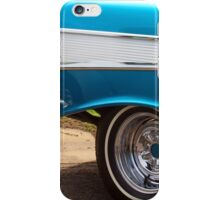 Chevrolet Blue and White Classic Bel Air Muscle Car iPhone Case/Skin