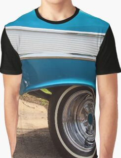 Chevrolet Blue and White Classic Bel Air Muscle Car Graphic T-Shirt