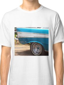 Chevrolet Blue and White Classic Bel Air Muscle Car Classic T-Shirt